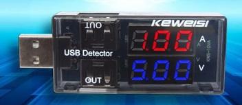 USB-тестер для зарядки, 3-9 в